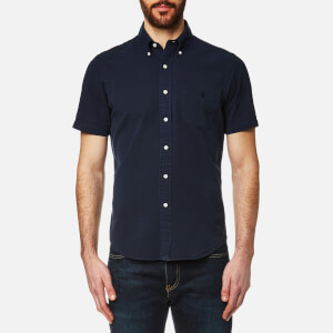 Polo Ralph Lauren Men's Seersucker Short Sleeve Shirt - Navy