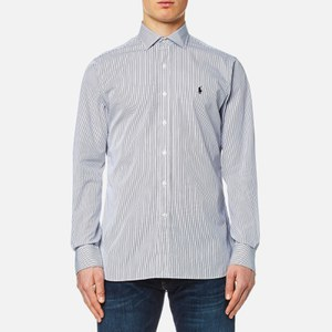 Polo Ralph Lauren Men's Poplin Shirt - White/Black Stripe