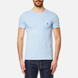 Polo Ralph Lauren Men's Pocket T-Shirt - Baby Blue/White