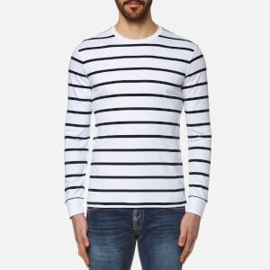 Polo Ralph Lauren Men's Long Sleeve Striped T-Shirt - White/Navy