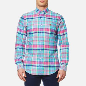 Polo Ralph Lauren Men's Custom Check Shirt - Pink