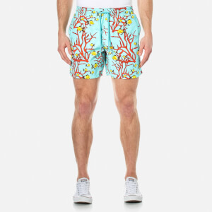 Vilebrequin Men's Moorea Coral and Fish Swim Shorts - Lagoon