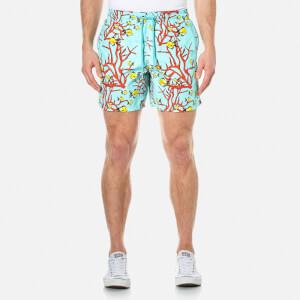 Vilebrequin Men's Moorea Coral and Fish Swim Shorts - Lagoon