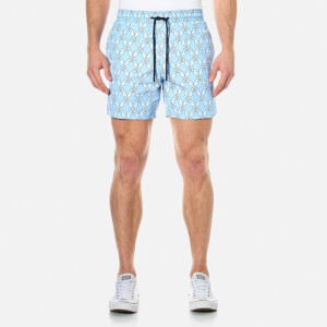 Vilebrequin Men's Moorea Diamond Shaped Sea Horses Swim Shorts - Sky Blue