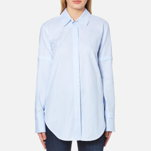 Helmut Lang Women's Tuxedo Shirt - Light Blue