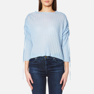 Helmut Lang Women's Gathered Sleeve Top - Wave