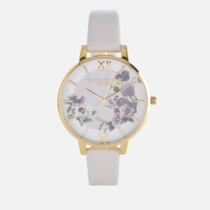 Olivia Burton Women's Big Dial Embroidery Pansy Blush Watch - Blush