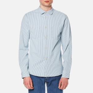 A.P.C. Men's Surchemise Riga Long Sleeve Shirt - Indigo Delave