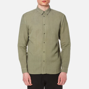 Folk Men's Long Sleeve Shirt - Soft Military