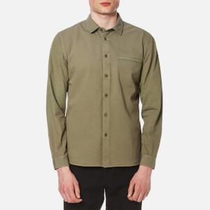 Folk Men's Elbow Patch Shirt - Soft Military