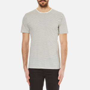 Folk Men's Striped T-Shirt - Ecru Navy