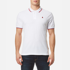 MUSTO Men's Miles Tipped Polo Shirt - White