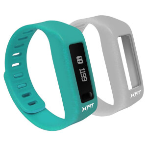 Xtreme Cables Xfit Bluetooth Water Resistant Fitness Tracker and Watch (Two Straps) - Turquoise/Grey