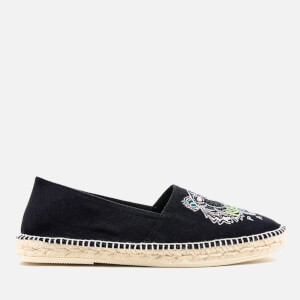 KENZO Men's Slit Tiger Canvas Espadrilles - Black