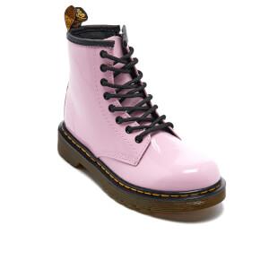 Dr. Martens Kids' Delaney Patent Lamper Lace Boots - Baby Pink: Image 2