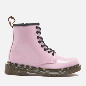 Dr. Martens Kids' Delaney Patent Lamper Lace Boots - Baby Pink: Image 1