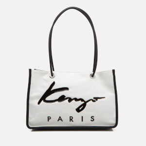 KENZO Women's Essentials East West Tote Bag - White