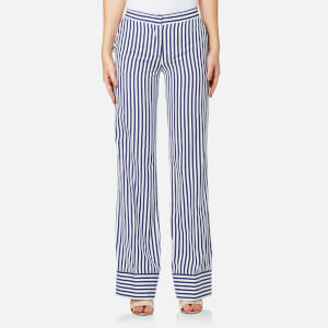 MSGM Women's Wide Leg Striped Trousers - Multi