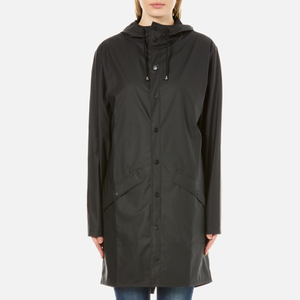 RAINS Long Jacket - Black - L-XL