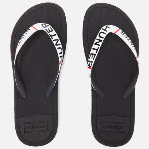 Hunter Women's Original Exploded Logo Flip Flops - Black