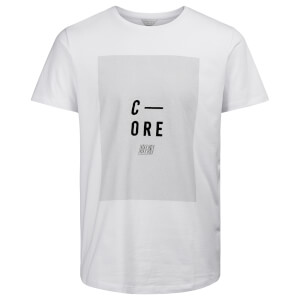 T-Shirt Homme Core Evident Jack & Jones - Blanc