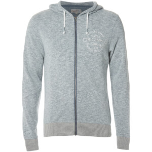 Jack & Jones Men's Originals Snap Zip Through Hoody - Ensign Blue