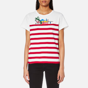 Marc Jacobs Women's Classic Stripe Julie T-Shirt - Red/Multi
