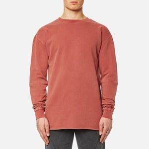 Maharishi Men's Zip Off Oversized Crew Sweatshirt - Terracotta