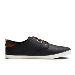 Jack & Jones Men's Tack Waxed Canvas Trainers - Anthracite