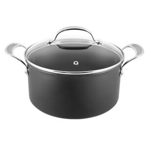 Jamie Oliver by Tefal Hard Anodised Non-Stick Stewpot with Lid - 24cm