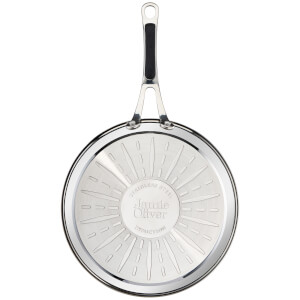 jamie oliver by tefal h8030644 stainless steel nonstick frying pan 28cm image