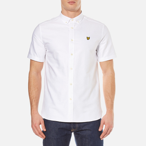 Lyle & Scott Men's Short Sleeve Oxford Shirt - White