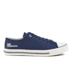 Crosshatch Men's Landslide Canvas Trainers - Night Sky Navy