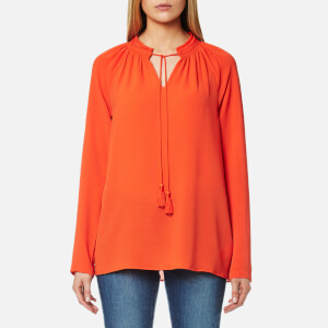 MICHAEL MICHAEL KORS Women's Embroidered Long Sleeve Top - Mandarin