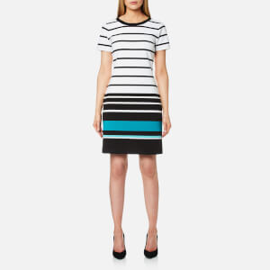 MICHAEL MICHAEL KORS Women's Stripe T-Shirt Dress - Dark Peacock