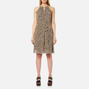 MICHAEL MICHAEL KORS Women's Lenus Leo Halter Dress - Khaki