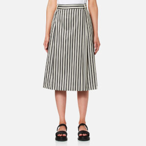 McQ Alexander McQueen Women's Neukoeln Kilt - Striped Black/White