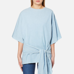 Waven Women's Katya Belted Top - Powder Blue