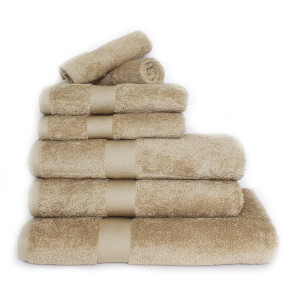 Restmor 100% Egyptian Cotton 7 Piece Luxury Towel Bale (600GSM) - Latte