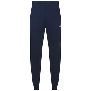 adidas Men's Essential Logo Cuffed Fleece Sweatpants - Navy