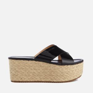MICHAEL MICHAEL KORS Women's Vivianna Slide Wedged Sandals - Black Patent