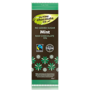 The Raw Chocolate Company Sugar Free Mint with Xylitol Bar - 44g (Pack of 12)
