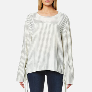 House of Sunny Women's Lace Up Stripe Top - Stripp