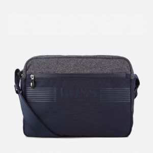BOSS Green Men's Pixel Medium Zip Cross Body Bag - Navy