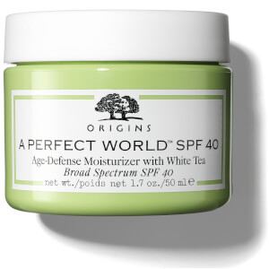 Crema hidratante antienvejecimiento con té blanco A Perfect World™ FPS40 de Origins 50 ml