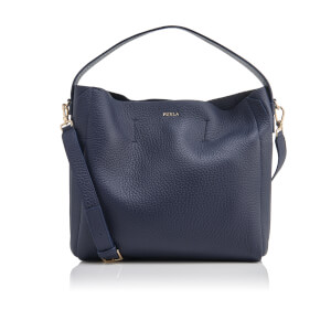 Furla Women's Capriccio Medium Hobo Bag - Navy