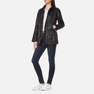 Barbour Women's Beadnell Wax Jacket - Navy: Image 3