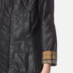 Barbour Women's Beadnell Wax Jacket - Navy: Image 6