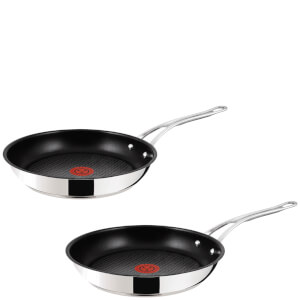 Jamie Oliver by Tefal Stainless Steel Non-Stick 2 Piece Frying Pan Set - 24/28cm