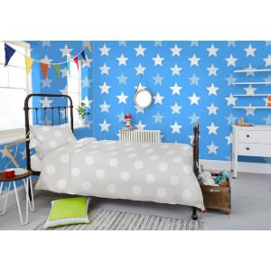 Graham & Brown Kids' Superstar Star Print Blue Wallpaper